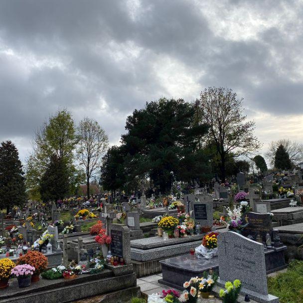 Cintorín v obci Seňa